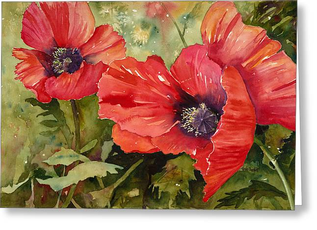 Hot Poppers Greeting Card by Renee Chastant