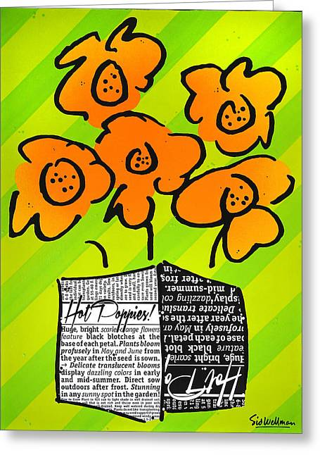 Hot Poppies Greeting Card
