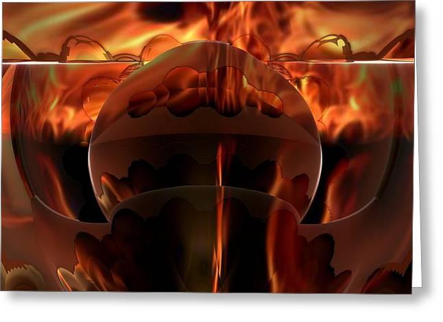 Hot Pursuit Greeting Card by Ricky Jarnagin