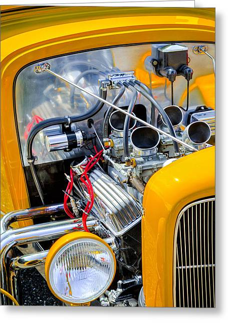 Hot Rod Greeting Card by Bill Wakeley