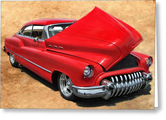 Hot Rod Buick Greeting Card