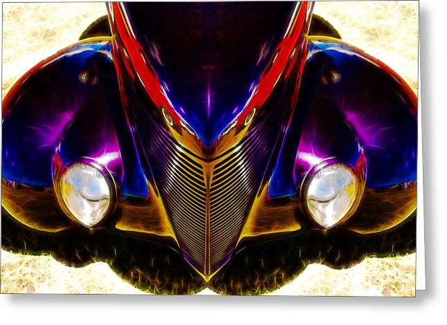 Hot Rod Eyes Greeting Card by motography aka Phil Clark