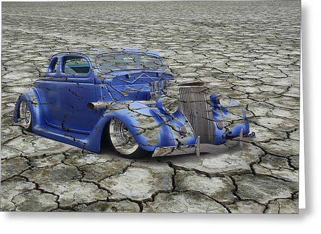 Hot Rod Mirage Greeting Card
