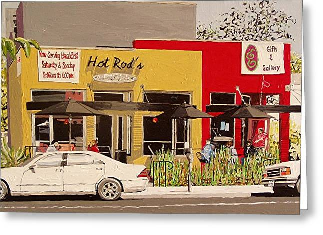 Hot Rod's Greeting Card by Paul Guyer