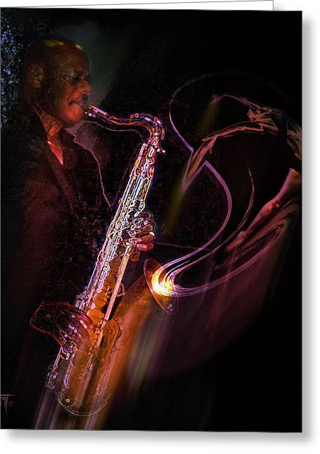 Hot Sax Greeting Card