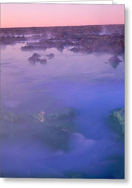Hot Springs In A Lake, Blue Lagoon Greeting Card by Panoramic Images
