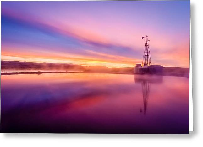Hot Springs Sunrise Greeting Card by John Williams