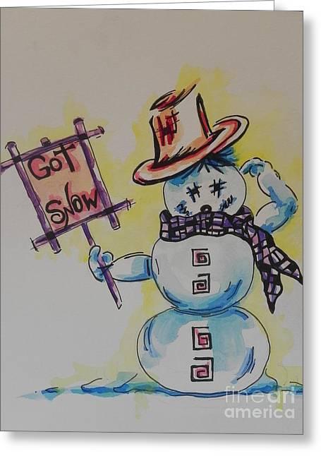 Hot Stuff.... Got Snow Greeting Card by Chrisann Ellis