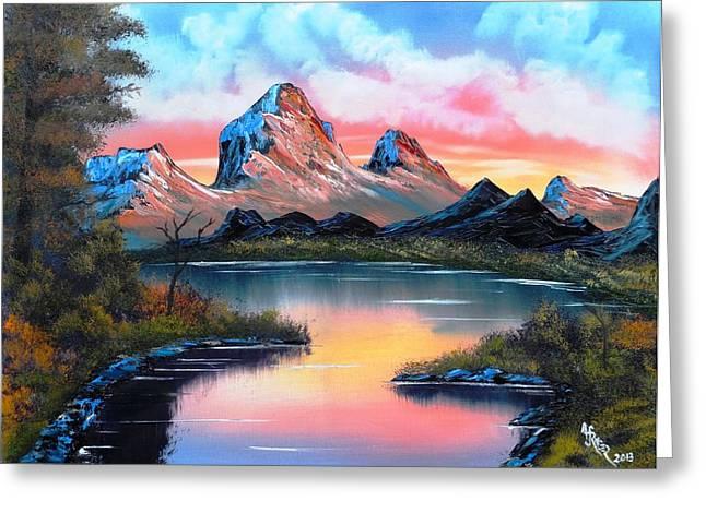 Hot Summer Mountain Grandeur Greeting Card