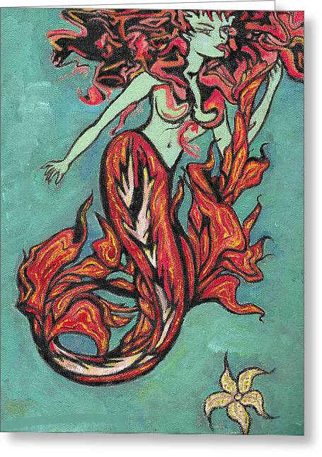 Hot Tuna Greeting Card by Tiffany Selig