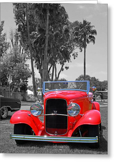Greeting Card featuring the photograph Hot V8 by Shoal Hollingsworth