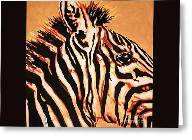 Hot Zebra Greeting Card