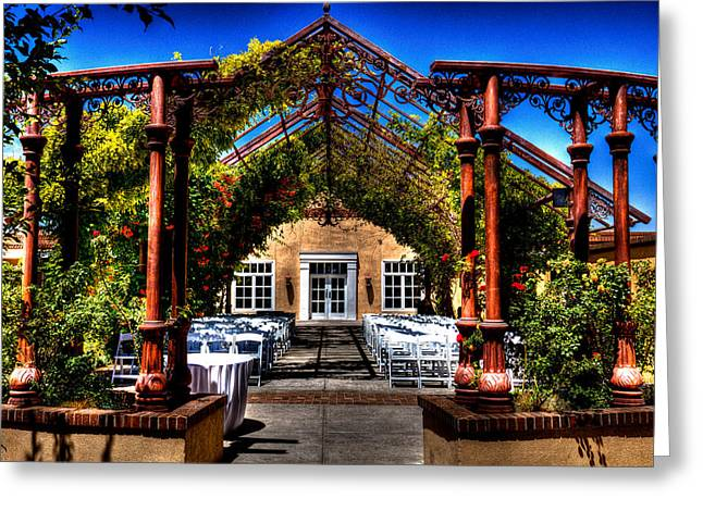 Hotel Albuquerque Wedding Pavilion Greeting Card by David Patterson