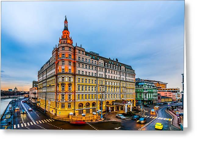 Hotel Baltschug Kempinski Of Moscow Greeting Card by Alexander Senin