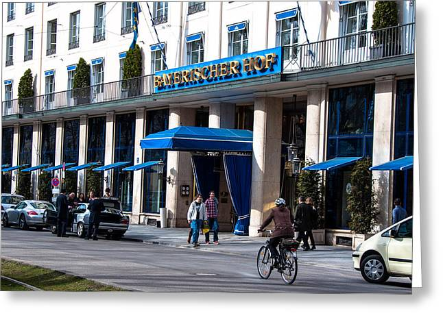 Hotel Bayerischer Hof In Munich Greeting Card