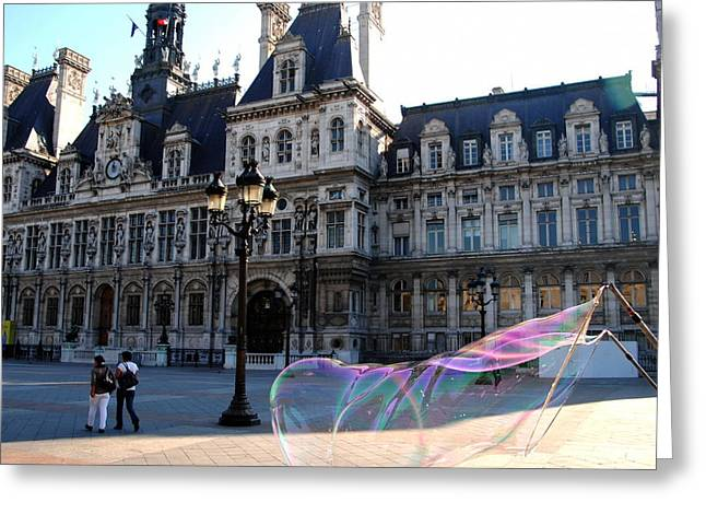 Hotel De Ville Bubble Greeting Card by Jacqueline M Lewis