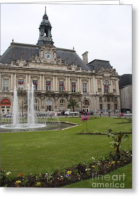 Hotel De Ville - Tours Greeting Card by Christiane Schulze Art And Photography