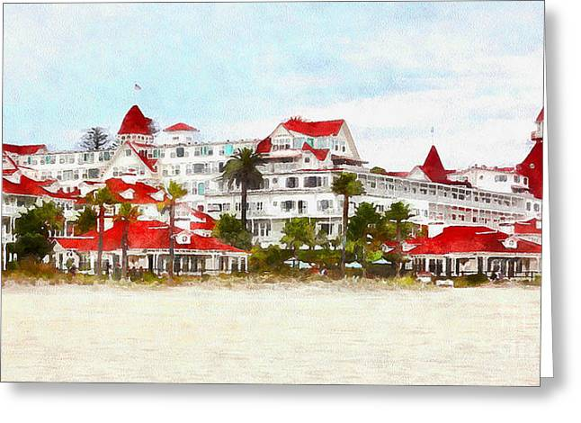 Hotel Del Coronado In Coronado California 5d24312wcstyle Long Greeting Card