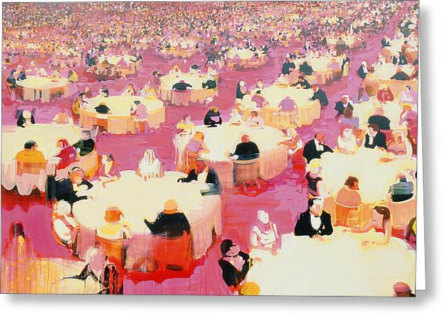 Hotel Dining Room Greeting Card by Susie Hamilton