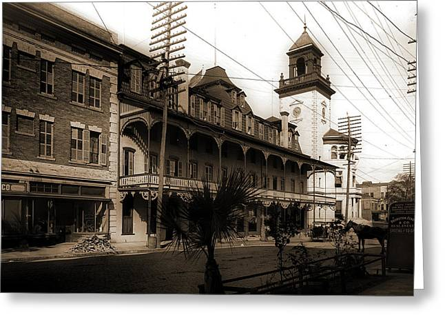 Hotel Duval And Post Office, Jacksonville, Fla, Hotels Greeting Card by Litz Collection