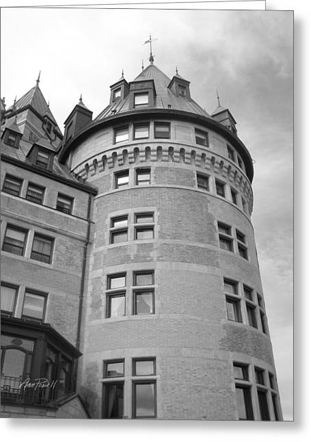 Hotel Frontenac Quebec City Greeting Card by Ann Powell