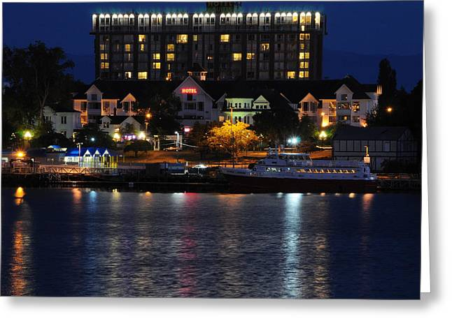 Hotel Harbor Lights Greeting Card
