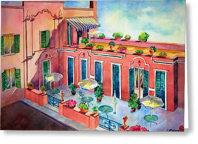 Hotel In Rome Greeting Card