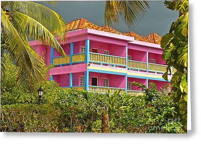 Hotel Jamaica Greeting Card by Linda Bianic