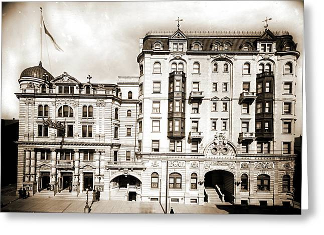 Hotel Kernan & Maryland Theatre, Baltimore Greeting Card by Litz Collection