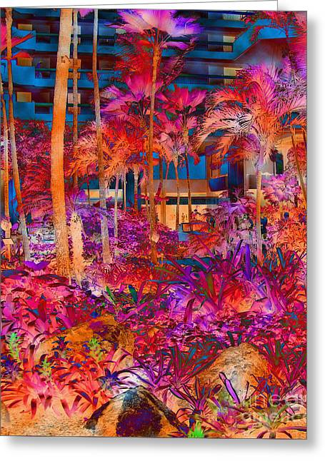 Greeting Card featuring the photograph Hotel Lobby In Maui by Connie Fox