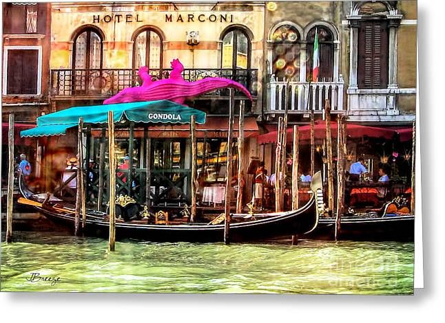 Hotel Marconi.venice. Greeting Card