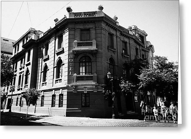 hotel paris-londres barrio paris londres Santiago Chile Greeting Card by Joe Fox