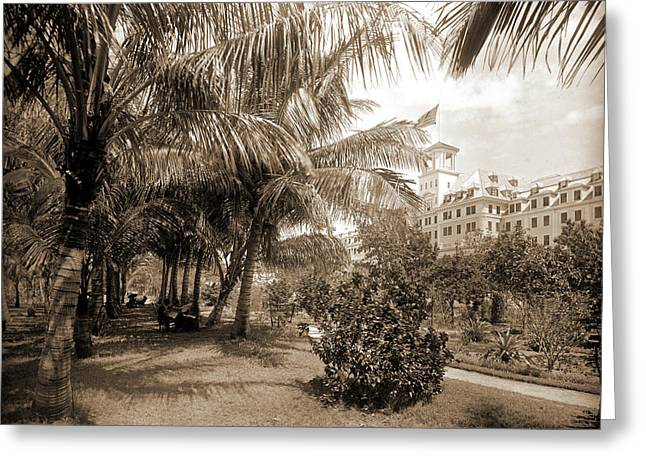 Hotel Royal Poinciana, Lake Worth, Jackson, William Henry Greeting Card