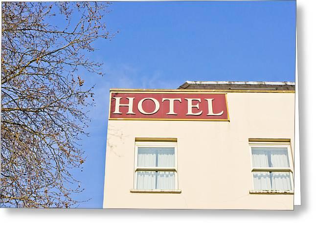 Hotel Greeting Card by Tom Gowanlock
