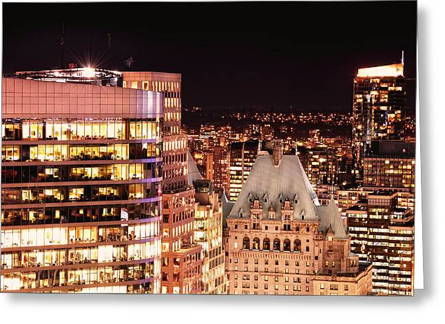 Greeting Card featuring the photograph Hotel Vancouver And Wall Center Mdccv by Amyn Nasser