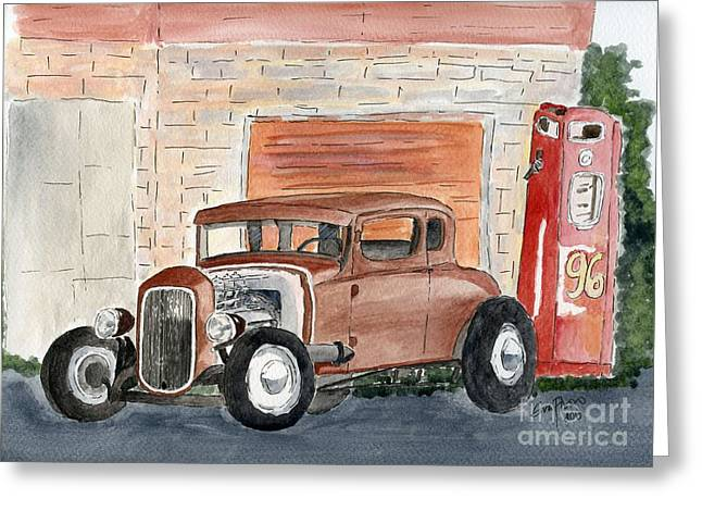 Hotrod Greeting Card