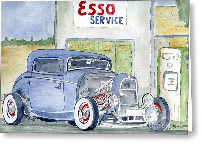 Hotrod II Greeting Card