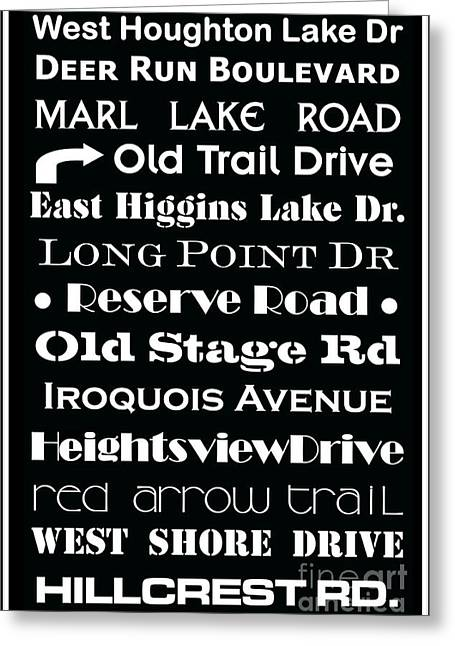 Houghton Higgins Subway Sign Greeting Card by Desiree Paquette