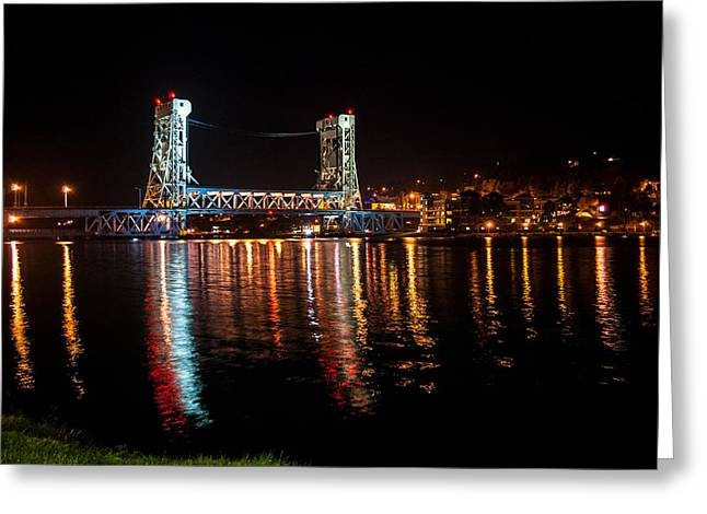 Houghton Lift Bridge  Greeting Card