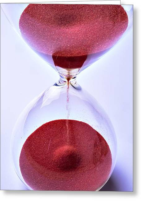 Hourglass Greeting Card by Garry Gay
