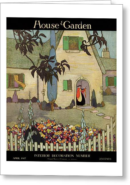 House & Garden Cover Illustration Of An Greeting Card
