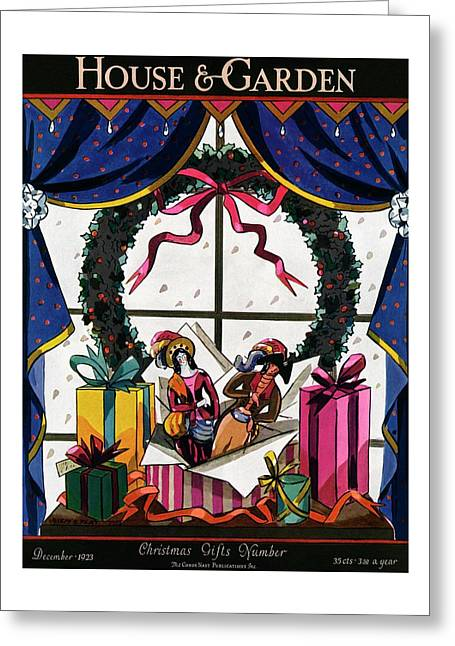 House & Garden Cover Illustration Of Christmas Greeting Card