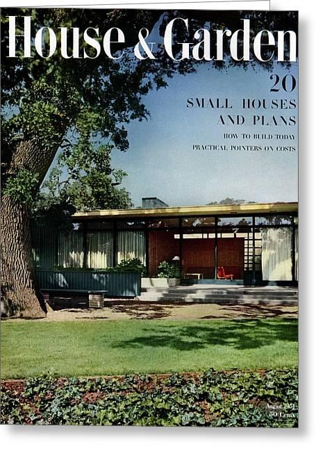 House & Garden Cover Of The Kurt Appert House Greeting Card by Ernest Braun