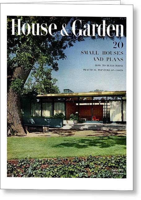 House & Garden Cover Of The Kurt Appert House Greeting Card