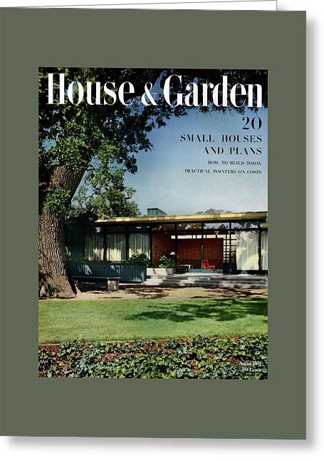 House & Garden Cover Of The Kurt Appert House Greeting Card by Ernest Braun