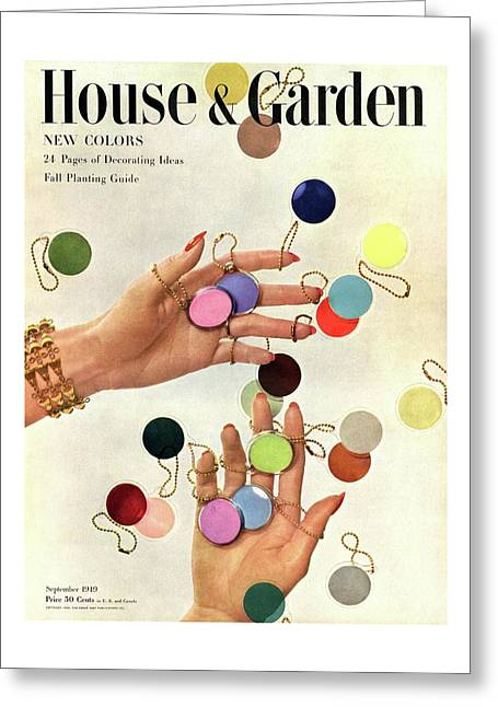 House & Garden Cover Of Woman's Hands With An Greeting Card