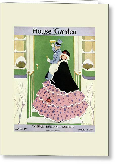 House And Garden Annual Building Number Cover Greeting Card by L. M. Hubert