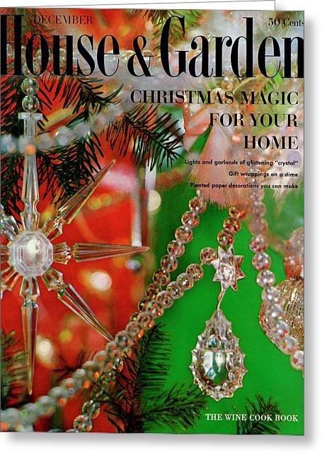 House And Garden Christmas Issue Cover Greeting Card
