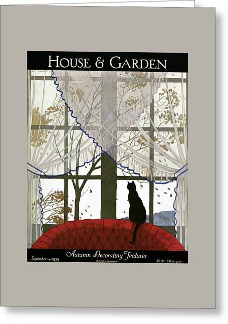 House And Garden Cover Greeting Card by Andre E.  Marty