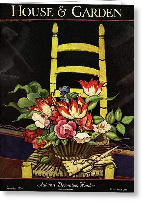 House And Garden Cover Greeting Card by Artist Unknown